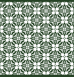 Dark green abstract damask pattern background vector
