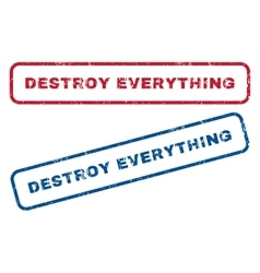 Destroy everything rubber stamps vector