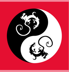 dragon the yin yang vector image