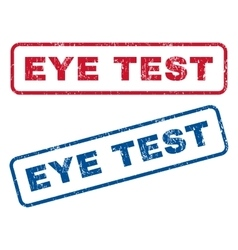 Eye test rubber stamps vector