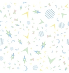 Funny pattern memphis style vector image