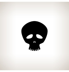 Funny Skull Silhouette vector image