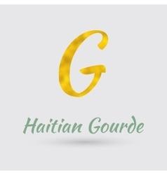 Golden symbol of haitian gourde vector