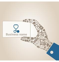Hand medicine3 vector image vector image