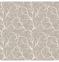 Heart flower seamless pattern vector