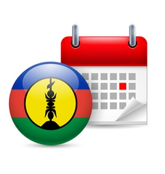 Icon of national day in new caledonia vector