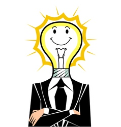 Idea man vector image