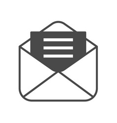 Mail advertisement isolated icon vector