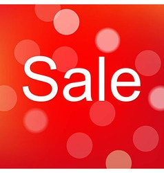 Red Sale Poster With Bokeh vector image vector image