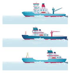 Set icebreakers vector