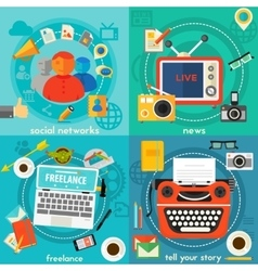 Tell your story news freelance and social vector