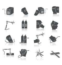Welder Icons Set vector image vector image