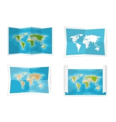 World map Navigation Africa vector image