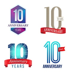 10 Years Anniversary Symbol vector image vector image