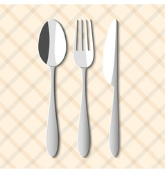 Spoonfork and knife vector