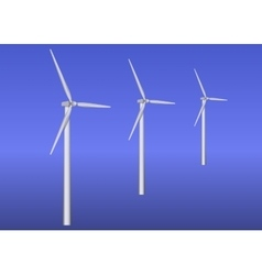 Three wind turbines vector