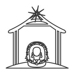 Baby jesus cartoon of holy night design vector