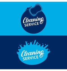 Set of hand written lettering cleaning service vector