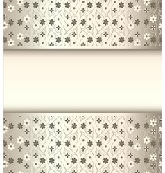 Background frame with flowers of silk with metal l vector