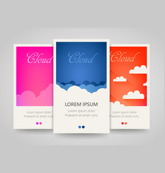 modern colorful vertical cloud banners cloudy vector image