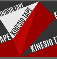 Kinesio tape horizontal seamless pattern or vector
