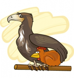 eagle and chicken vector image