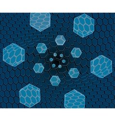 Flying hexagons over the grid vector