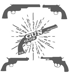 Gun club design elements vector