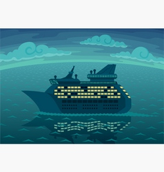 Night cruise vector