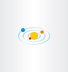 solar system planet sun icon vector image