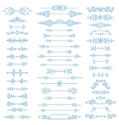 Winter decordivider bordeschristmasnew year vector