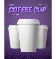 Coffee Cup Set with Blur Depth of Field vector image