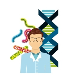 Biology science design vector