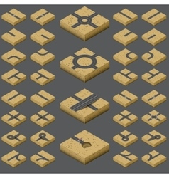 Isometric road kit vector