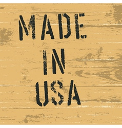 Made in usa vintage western sign vector