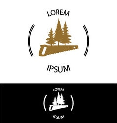 Wood workshop icon vector image