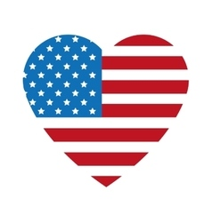 Heart shape united states badge icon vector