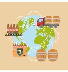 Beer industry design vector