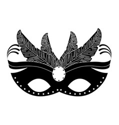 carnival mask isolated icon vector image