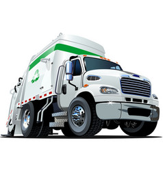 Cartoon Garbage Truck vector image vector image