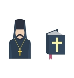 Catholic priest icon vector image
