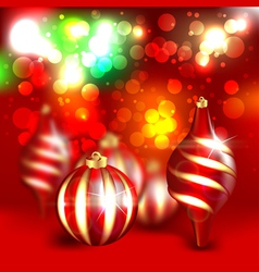 christmas blurred design vector image vector image