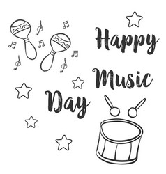 Collection stock card for music day vector