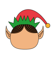 color image cartoon front view faceless christmas vector image vector image