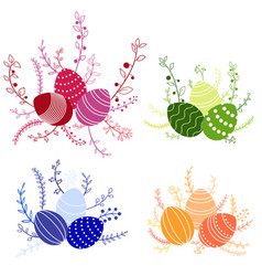 Easter compositions vector