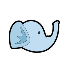Elephant head cartoon vector