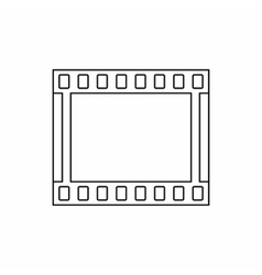 Film strip icon in outline style vector image vector image