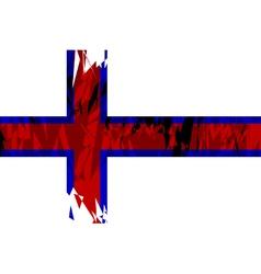 Flag of the Faroe Islands vector image vector image