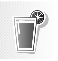 glass of juice icons new year blackish vector image