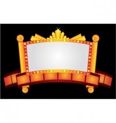 gold cinema neon vector image vector image